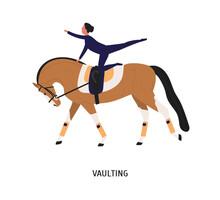 Vaulting, Horse Riding Tricks ...