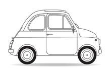 Italienisches Auto Kontur