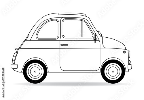 Photographie Italienisches Auto Kontur