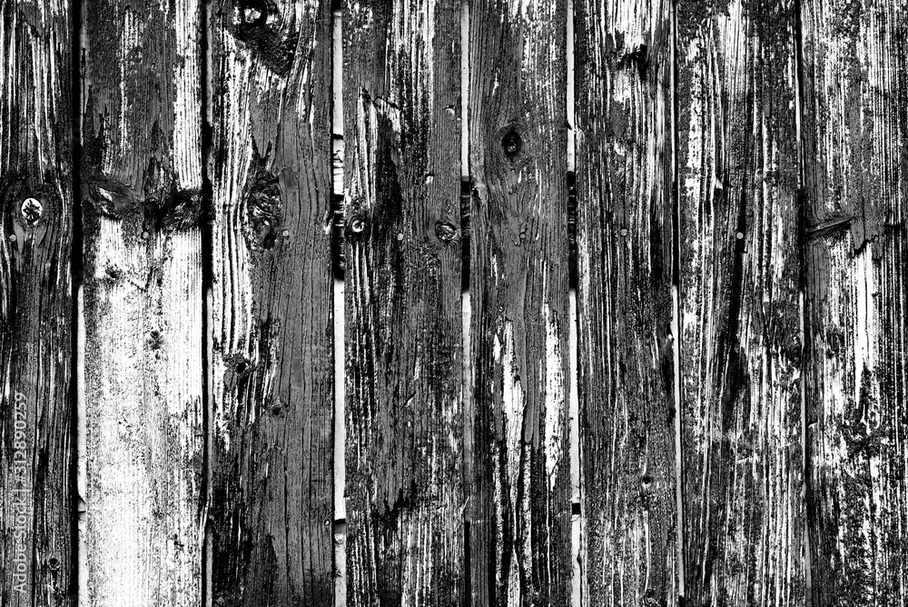 Fototapeta Wooden texture with scratches and cracks