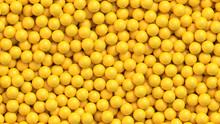 Yellow Balls Background. Reali...