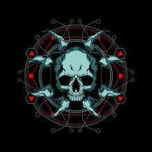 Skull And Bone Sacred Geometry