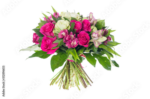 Fotografija bouquet of flowers isolated on white