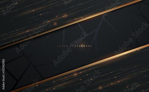 Fototapeta Abstract black and gold background obraz
