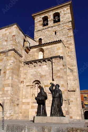 Merlu statues near San Juan Bautista church. Zamora, Spain. Wallpaper Mural