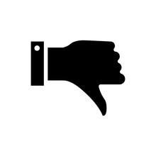 Dislike Icon Vector In Simple ...