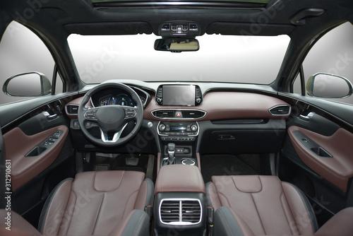 Photo dashboard of a modern car