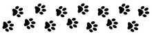 Paw Prints Dog Track Banner De...