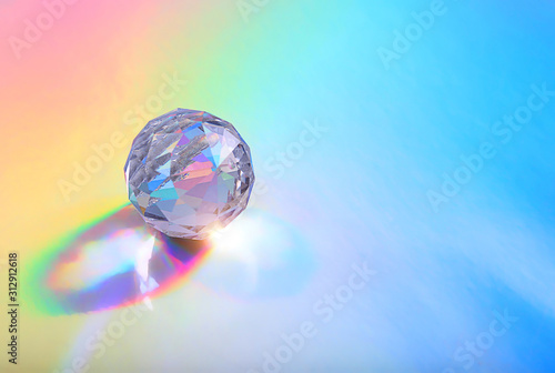 Crystal prism Refracting light in vivid rainbow colors Tapéta, Fotótapéta