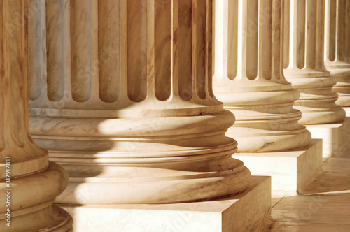 Architectural pillars representing strength support power integrety and honesty