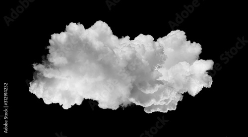 Obraz white clouds isolated on black - fototapety do salonu