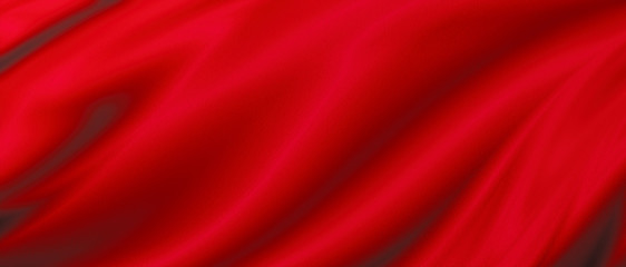 Red luxury fabric background with copy space