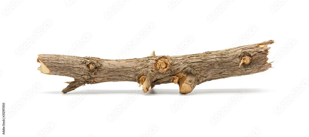 Fototapeta Close up of pine wood isolated on white background