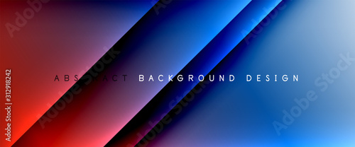 Fototapety, obrazy: Trendy simple fluid color gradient abstract background with dynamic straight shadow line effect. Vector Illustration For Wallpaper, Banner, Background, Card, Book Illustration, landing page