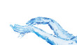 Leinwandbild Motiv Two hands made of water touching on white