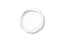 Vector White Wax Seal Stamp Cl...