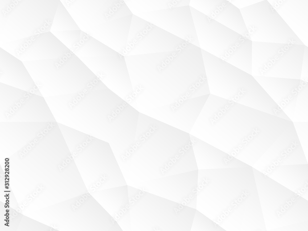 Fototapeta Abstract seamless vector background. White and gray repeatable texture. Polygon endless creative pattern