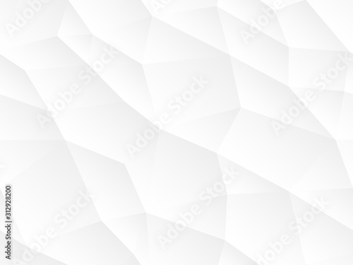 obraz lub plakat Abstract seamless vector background. White and gray repeatable texture. Polygon endless creative pattern