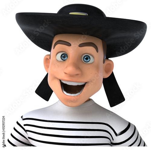 Fotografía Fun 3d cartoon breton character
