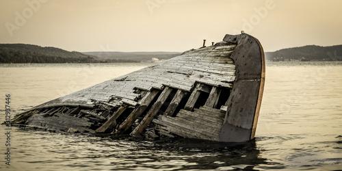 Great Lakes Shipwreck Fototapeta