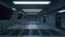 3d Render. Futuristic Spaceshi...