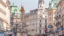 People Is Walking In Graben St. Timelapse, Old Town Main Street Of Vienna, Austria.