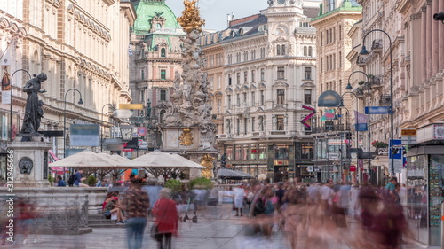 People is walking in Graben St Canvas Print