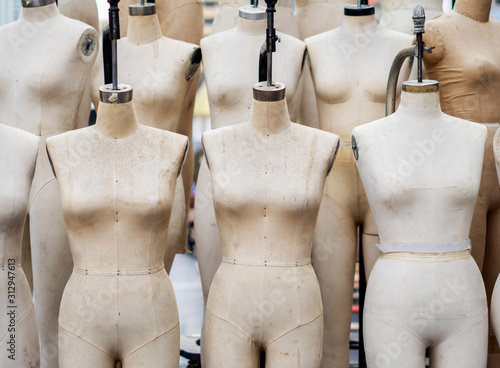 Closeup professional mannequin for sewing atelier Canvas Print