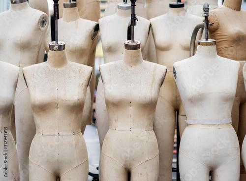 Closeup professional mannequin for sewing atelier Slika na platnu