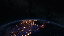 Spinning Earth At Night, North...