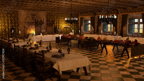 Photographie 3D Rendering Banquet Hall