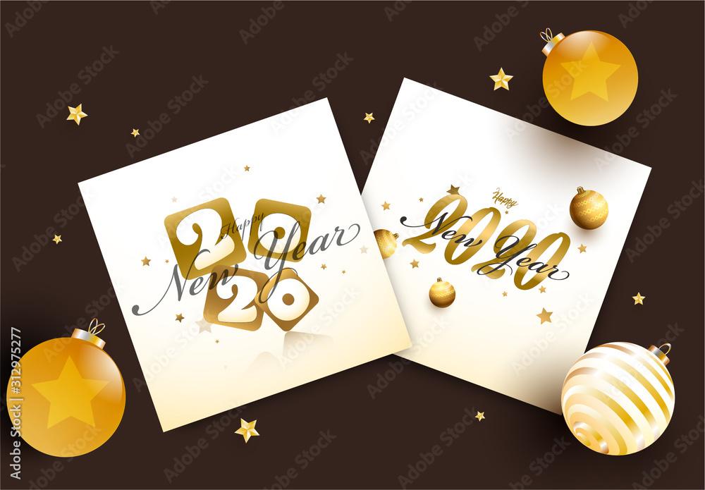 Fototapeta New Year 2020 Card Layouts