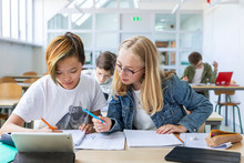 Teenage Girls In Classroom