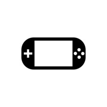 Handheld Game Console. Flat Ic...
