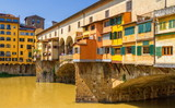Medieval stone bridge Ponte Vecchio over Arno river in Florence, Tuscany, Italy