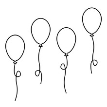 Balloons Ball Set. Vector Stoc...