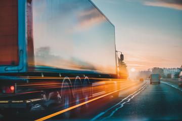 Ciężarówka Transport ładunków Dostawa w ruchu, Wielka Brytania Autostrada M1