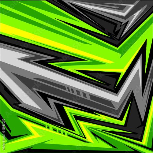 Fotografía vector of sports jersey abstract arrow line graphic pattern
