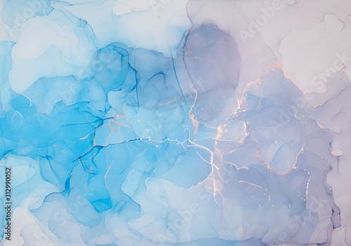 Fototapeta Niebiesko-różowa abstrakcja cieniowana przestrzenna