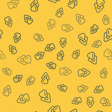 Blue Line Guitar Pick Icon Isolated Seamless Pattern On Yellow Background. Musical Instrument. Vector Illustration