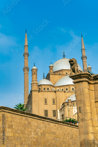 Muhammed Ali Mosque from Below Cairo Egypt Canvas Print