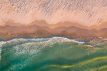 Aerial View Above Scarborough Beach During Sunset, South Africa.