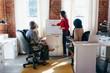 Multiethnic small business team meeting