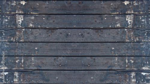 Cuadros en Lienzo old brown rustic dark weathered wooden texture - wood background