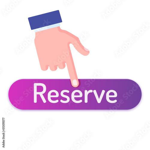 Fotografie, Tablou Hand push on reserve button
