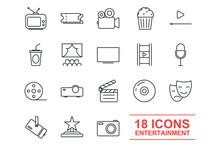 Set Entertainment Icon Templat...