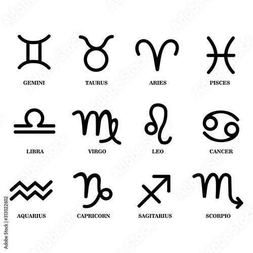 Obraz zodiac sign icon vector design symbol - fototapety do salonu