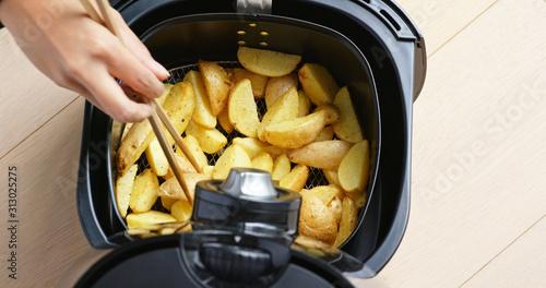 Air fryer homemade crispy potato Canvas Print