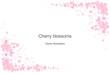 Cherry flowers frame design