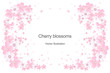 Cherry flowers frame design